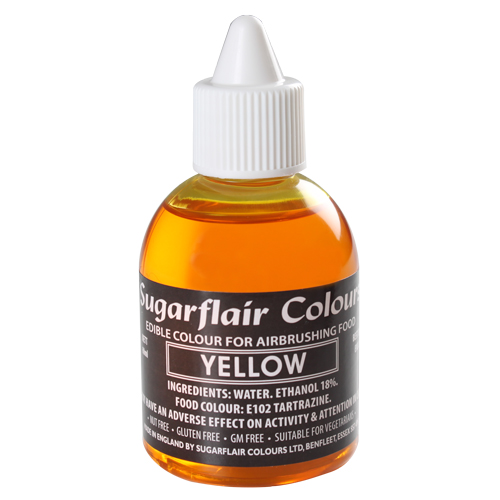 Foto: SUGARFLAIR - Colorante per aerografo giallo 60 ml.