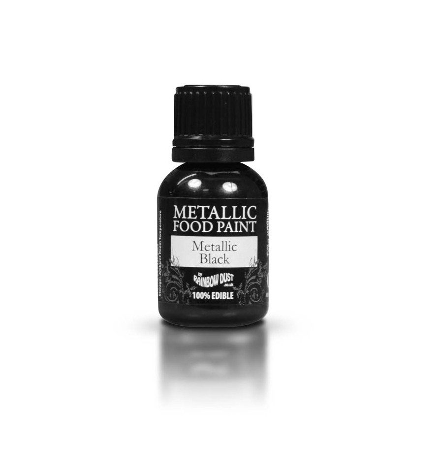 Foto: Colorante Rainbow Dust Vernice Metallizzata Nero 25 ml