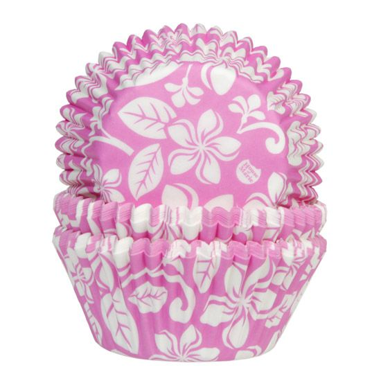 Foto: HOUSE OF MARIE BAKING CUPS ALOHA FLOWER PINK PK/50