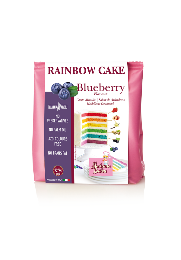 Foto: MAdame Loulou- preparato per RAinbow Cake Mirtillo 100 gr