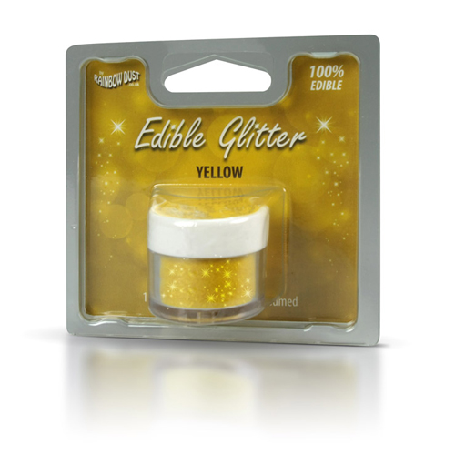 Foto: RD  Glitter commestibile -Yellow- 5g