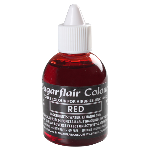 Foto: SUGARFLAIR - Colorante per aerografo rosso 60 ml.