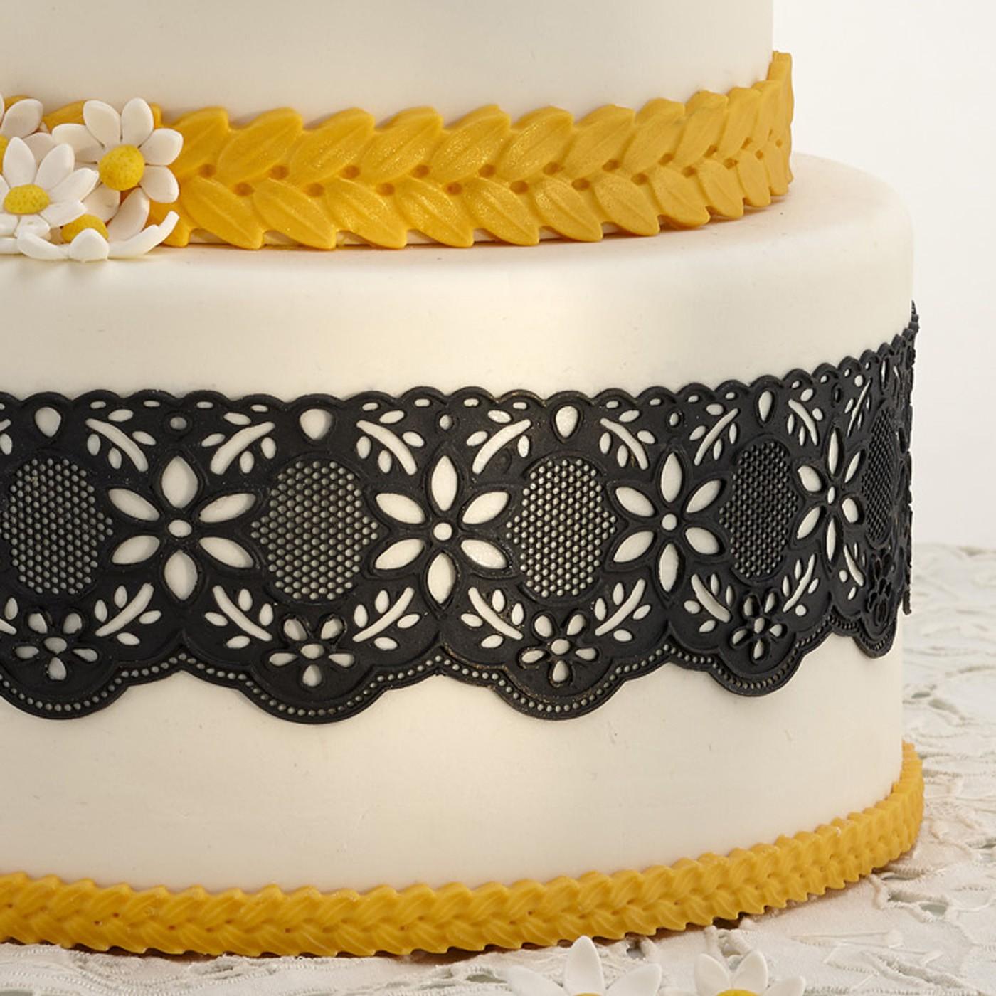 Tappetini e stencil for cake designer accessori per il - Accessori per cake design ...