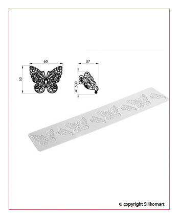 Foto: Tappetino in silicone Tricot Decor Butterfly silikomart